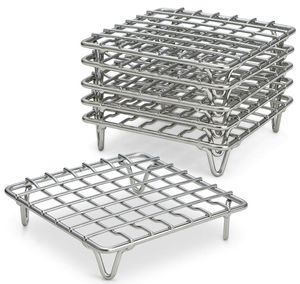 """ARROW & EAVES 4"""" Mini Stainless Steel Cooking and Cooling Racks, Set of 6 - Small Metal Trivet Display Stand for Round Pots, Pans, Hot Dishes, Wire C for Sale in Glendora, CA"""