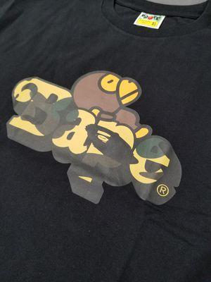 BAPE x 1st Camo Milo on Bape green/black Tshirt for Sale in Chicago, IL
