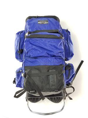Vintage Jansport External Frame Large Backpack Hiking Camping Made in USA Blue for Sale in Commerce City, CO
