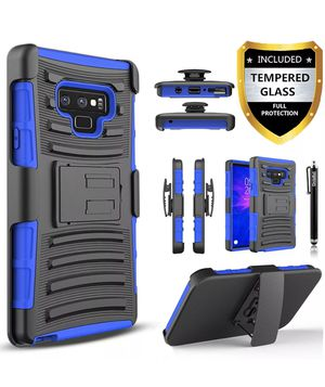 Samsung Galaxy Note 10 Plus 9 8 5 4 3 Case Cover, + Tempered Glass Protector Available For Most Galaxy Note Phones for Sale in Los Angeles, CA