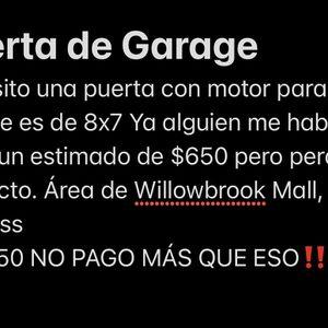 Garage Door !Puerta para Garage! for Sale in Houston, TX