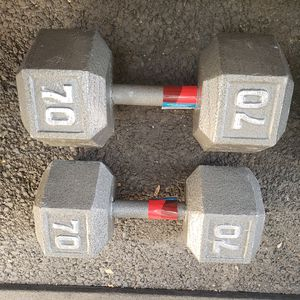 ***70lbs Pair Iron Hex Dumbbell-New In Box*** for Sale in San Jose, CA