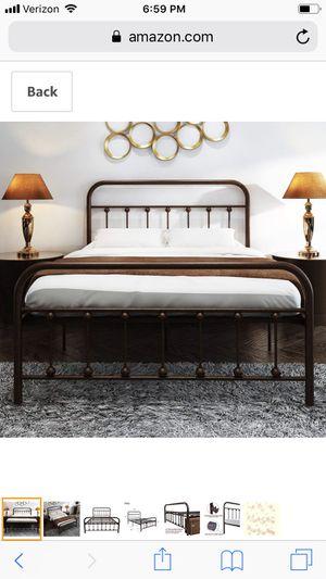Bronze Metal Full Size Bed Frame for Sale in Queen Creek, AZ
