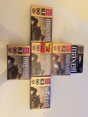 Maxell XL 2 blank cassette tapes (new) for Sale in Houston, TX