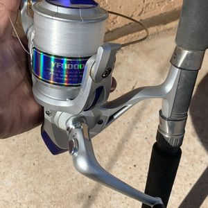 Rod And Reel 7' Tall for Sale in Hesperia, CA