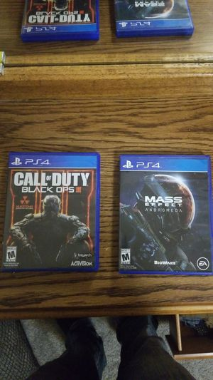 Ps4 games COD:black ops III & Mass Effect:andromeda for Sale in Vancouver, WA