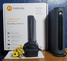 MOTOROLA 8x4 343 Mbps DOCSIS 3.0 N300 Cable Modem with Wi-Fi Gigabit Router, Model MG7310 for Sale in Immokalee,  FL