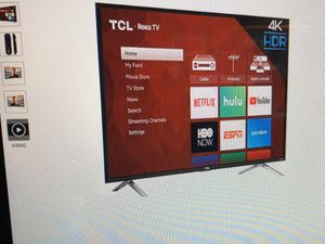 TCL Roku tv 4K hdr (tcl-49s405) 49 inch for Sale in Seattle, WA