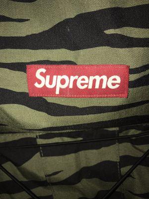 Supreme Cross 30 XXX Olive Zebra backpack box logo hoodie hat shirt for Sale in Hayward, CA