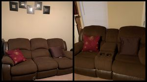 Chocolate recliner couches for Sale in Riverdale, GA