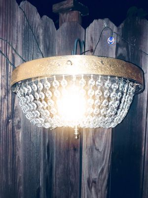 Antique hanging lamp w 3 wall sconces for Sale in Paramount, CA