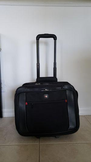 Swiss Gear Black Double Gussett 15.4 wheeled notebook case for Sale in Fort Myers, FL
