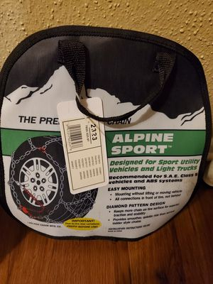 Pair of snow chains LT245/75/16 for light truck for Sale in Santa Ana, CA