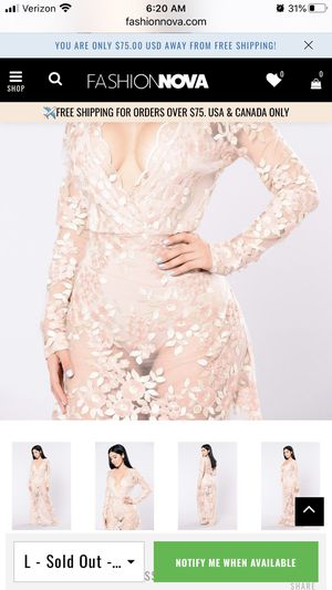 Fashion nova flower dress for Sale in Adelanto, CA