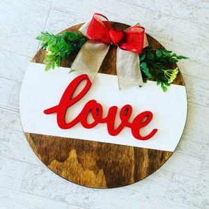Love Wood Door Sign for Sale in Houston, TX