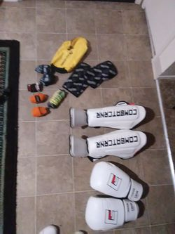 UFC fighter gloves, leg pads, knee pads, jump rope, hand wraps for Sale in Oceanside,  CA