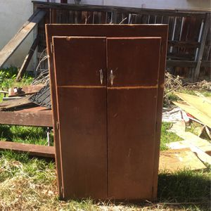 Wood Tool Storage Shed Cabinet for Sale in Fontana, CA