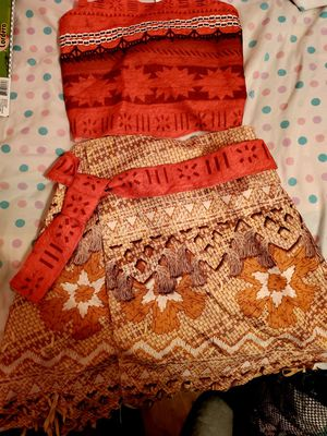 New Moana Costume/Play Outfit Sz 4-6 Youth for Sale in Crowley, TX