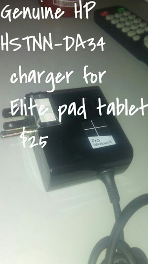 Genuine hp ElitePad 900 G1 A/C Adapter/ Charger: Model #: HSTNN-DA34 P/N: 685735-003 hp USB Adapter Model #: H3N46AA S/N CNK5130848 for Sale in Dallas, TX