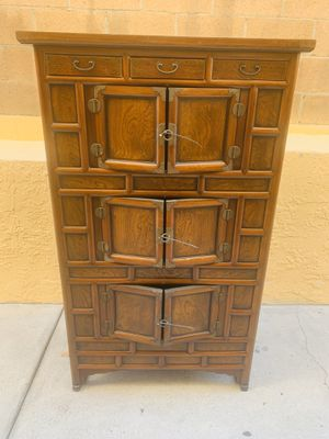 Antique Asian wood cabinet for Sale in Los Angeles, CA