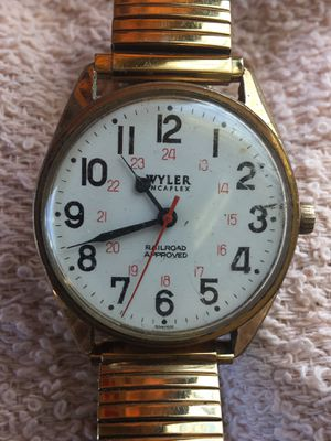 Vintage Wyler approved Railroad Manual Wind Watch, Running on Time for Sale in South Gate, CA