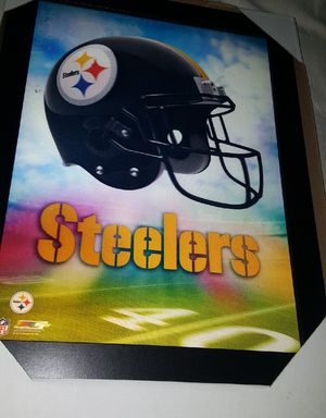 "21"" X 14"" New NFL Steelers 3D frame with integrated lights. Amazing 180. view. Perfect Man Cave gift for Sale in San Diego, CA"