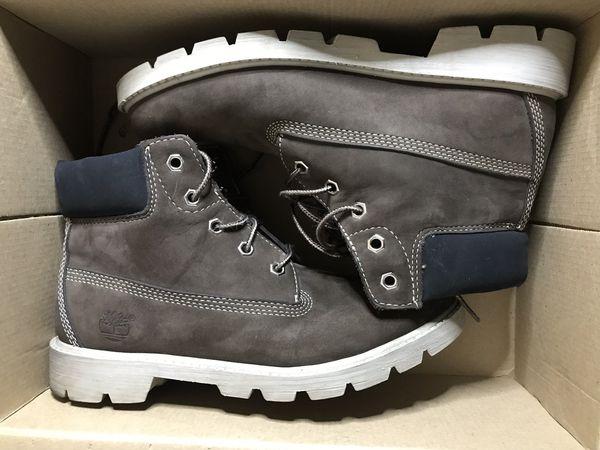 Timberland Brown Work Boots Sz Boys 5.5