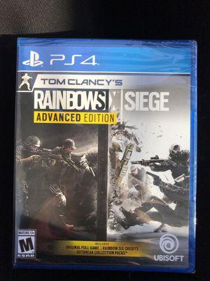 BRAND NEW Tom Clancy's RainbowSix Siege PS4 Advanced Edition for Sale in Virginia Beach, VA