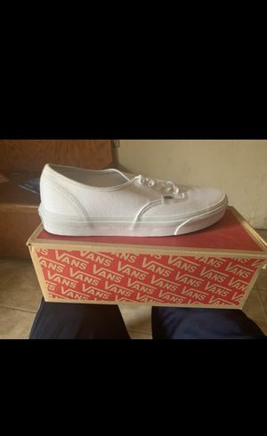 True white vans, size 9,dint like them never worn for Sale in Houston, TX