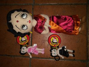 Betty Boop plush toy collectible and 2 Kelly toy plush keychains for Sale in Hawthorne, CA