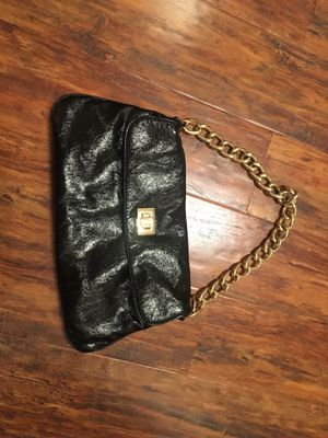 Black pleather clutch with chunky gold chain for Sale in Nashville, TN