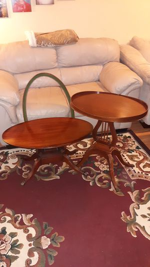 1930's MERSMAN ANTIQUE MAHOGANY MATCHING TABLES (See all 6 pics!) for Sale in Whitehall, OH