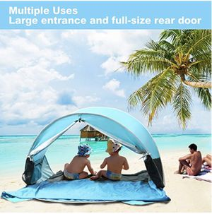 2019 Upgraded] Beach Tent-Pop Up Beach Tent with Pool Shade Cabana Portable UV Sun Shelter. UPF 50+ for Sale, used for sale  Mead, WA