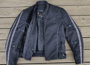 Nylon motorcycle jacket w/ armor for Sale in Sumner, WA