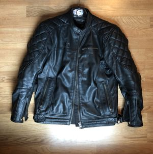 Oxford Route 73' Leather Motorcycle Jacket for Sale in Midlothian, VA