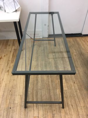 Glass top desk/table (metal frame) for Sale in New York, NY