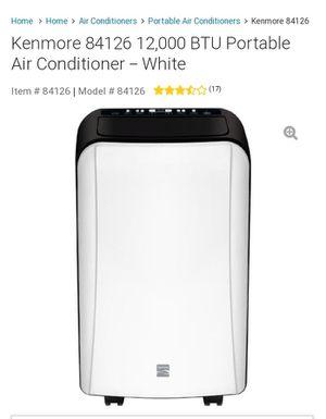 Kenmore 12,000 BTU Portable Air Conditioner w/ AC Vent for Sale in Huntington Beach, CA