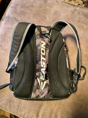 Gray Black Camo Small Youth Easton Baseball Gear Backpack Holds 2 Bats plus more gear for Sale in Gilbert, AZ