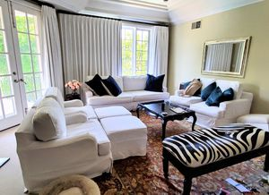 9 Piece Sectional White Couch for Sale in Los Angeles, CA