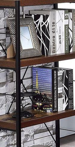 Wood Farmhouse Black Metal Bookshelf Storage Shelving for Sale in Phoenix,  AZ