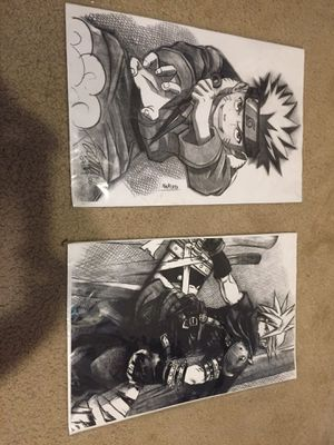 Old hand drawn anime pictures for Sale in Modesto, CA