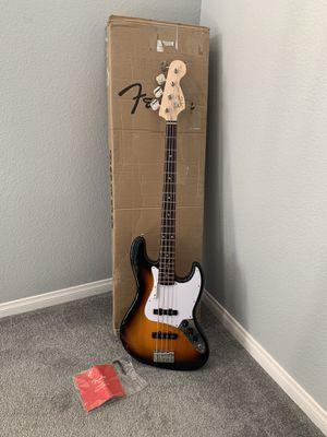 Fender Squier Affinity Series Jazz Bass Sunburst Guitar new open box for Sale in Las Vegas, NV