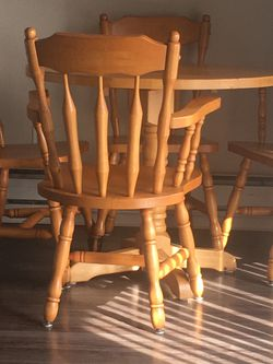 Wood Table An Chairs for Sale in University Place,  WA
