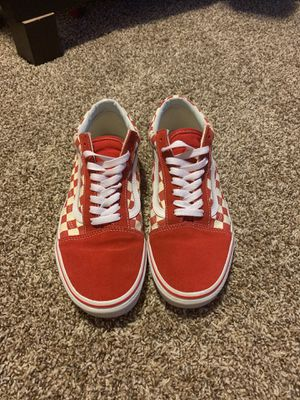 Red Old school vans Size 9 Men's for Sale in Monroe, WA