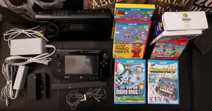 NINTENDO WII U BLACK 32GB BUNDLE for Sale in Pompano Beach, FL