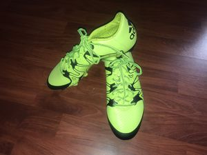 Adidas 15.3 Solar yellow black core football boots unisex size 9.5 for Sale in San Jose, CA
