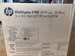 "HP Elite Display E190i 18.89"" LED Backlit ips monitor for Sale in Cleveland, OH"