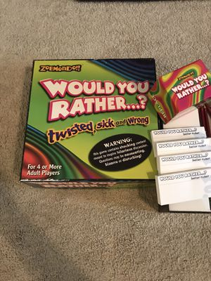 Would You Rather Twisted, Sick and Wrong Board Game for Sale in Harrisonburg, VA
