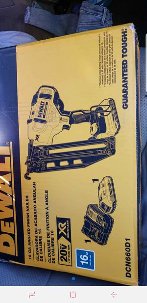 Dewalt Battery Operated Nail Gun for Sale in Lathrop, CA