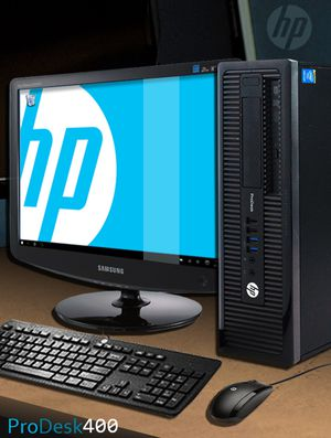 HP ProDesk 400 G1 SFF Intel Core i3 (4130) 3.40GHz 8GB DRR3 500GB HDD for Sale in Garfield, NJ